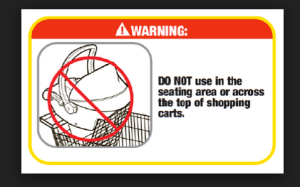 car seat warning